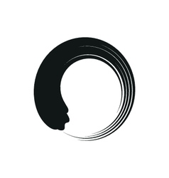 Zen enso circles in modern minimalist style vector