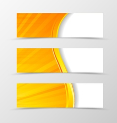 Set of header banner digital wave design vector