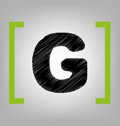 letter g sign design template element vector image