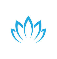 Lotus flower abstract logo design template vector