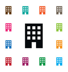 Isolated apartment icon residential vector