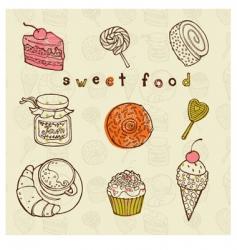 tasty cakes set vector image