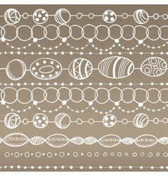 Seamless pattern with lacy design vector image