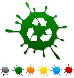 Recycle blot vector