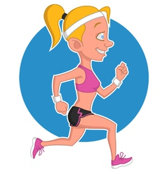 Girl runs vector