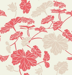 Floral pattern seamless red vector