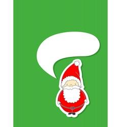 santa with speech bubble vector image