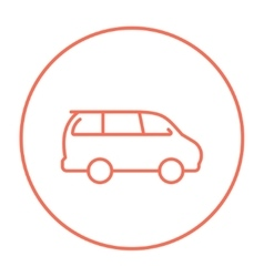 Minivan line icon vector