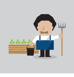 Farmer Character vector image