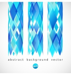 abstract background of blue diamonds vector image vector image