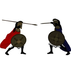 Achilles and Hector vector image