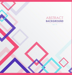 Background with colorful frame squares abstract vector