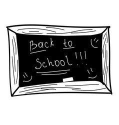 black board back to school vector image vector image