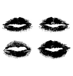 black lips vector image
