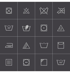 black washing icons set vector image