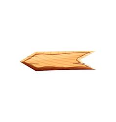 Blank wooden arrow icon vector