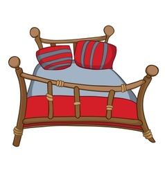 cartoon home furniture bed vector image