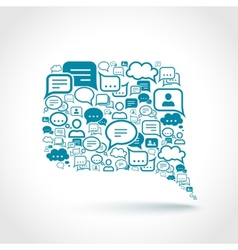 Chat communication concept vector image vector image