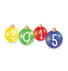 christmas ball 2015 color vector image