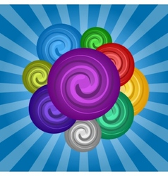 Colorful set circle paint vector image