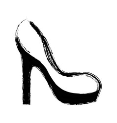 Contour fashion heels high shoes vector