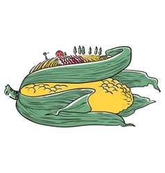 Doodle ear of corn vector image