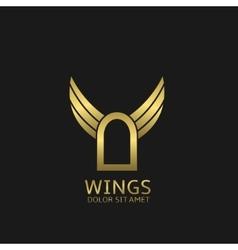 Door and wings vector