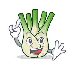 Finger fennel mascot cartoon style vector