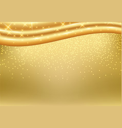 golden background with luxury gold silk fabric vector image vector image
