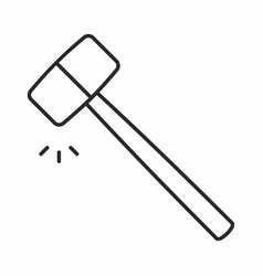 hammer icon vector image vector image
