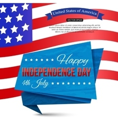 Happy Independence day of the USA typographical vector image vector image