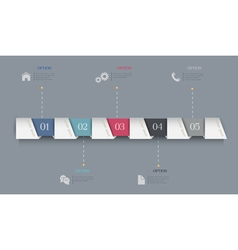 Infographics Options Paper Banners vector image
