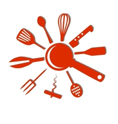 Kitchen accessories vector image