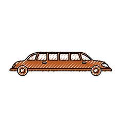 limousine luxury vehicle vector image