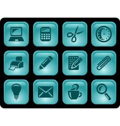 Office buttons vector image vector image