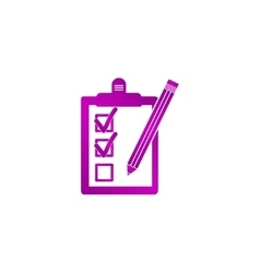 Pictograph of checklist vector image