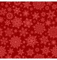 Red seamless snowflake pattern EPS 10 vector image