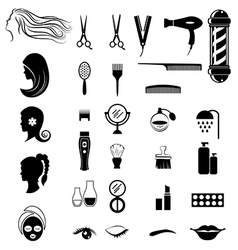 Set of salon shop items for beauty concept vector image vector image