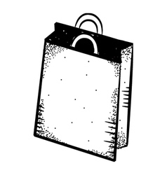 shopping bag doodle vector image