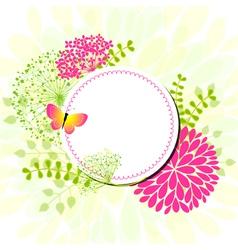 spring flower center vector image