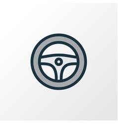 Steering wheel colorful outline symbol premium vector