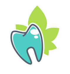 tooth logo template for dentistry or dental vector image vector image