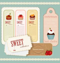 vintage dessert menu vector image