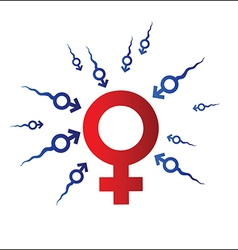 Woman and Man symbol vector image
