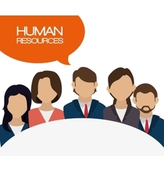Human resources recruit hired design isolated vector
