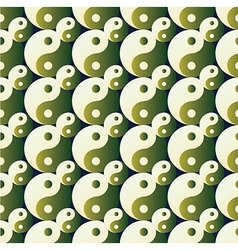 Ying yang pattern on background vector