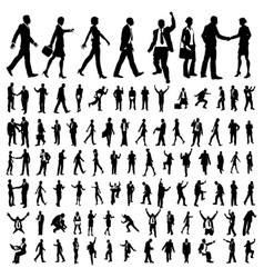 very many high quality business people silhouettes vector image