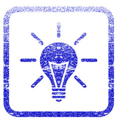 electric light framed textured icon vector image