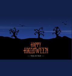 Silhouette scenery halloween design background vector