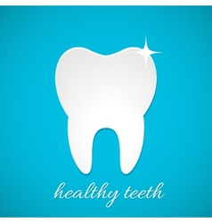 Healthy tooth icon vector